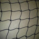 knotted black netting