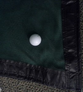 Golf baffle net