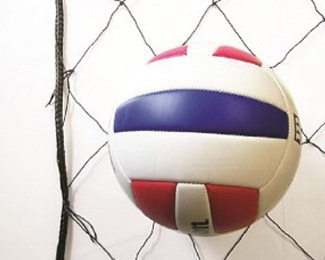 volleyball on barrier nets